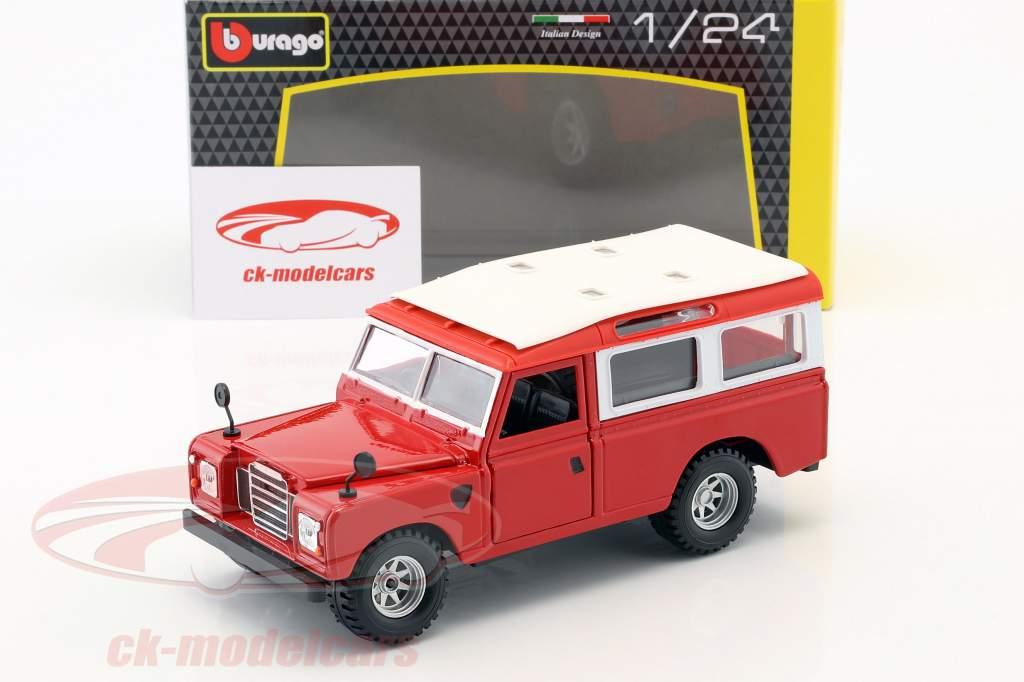 Land Rover Series II rojo / blanco 1:24 Bburago
