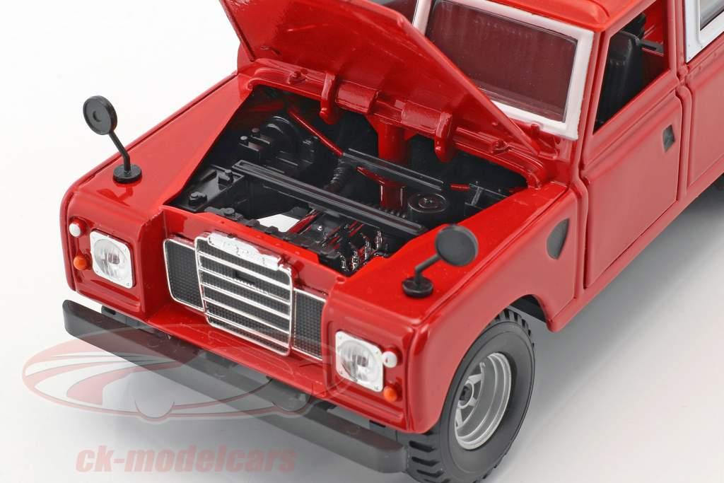 Land Rover Series II vermelho / branco 1:24 Bburago