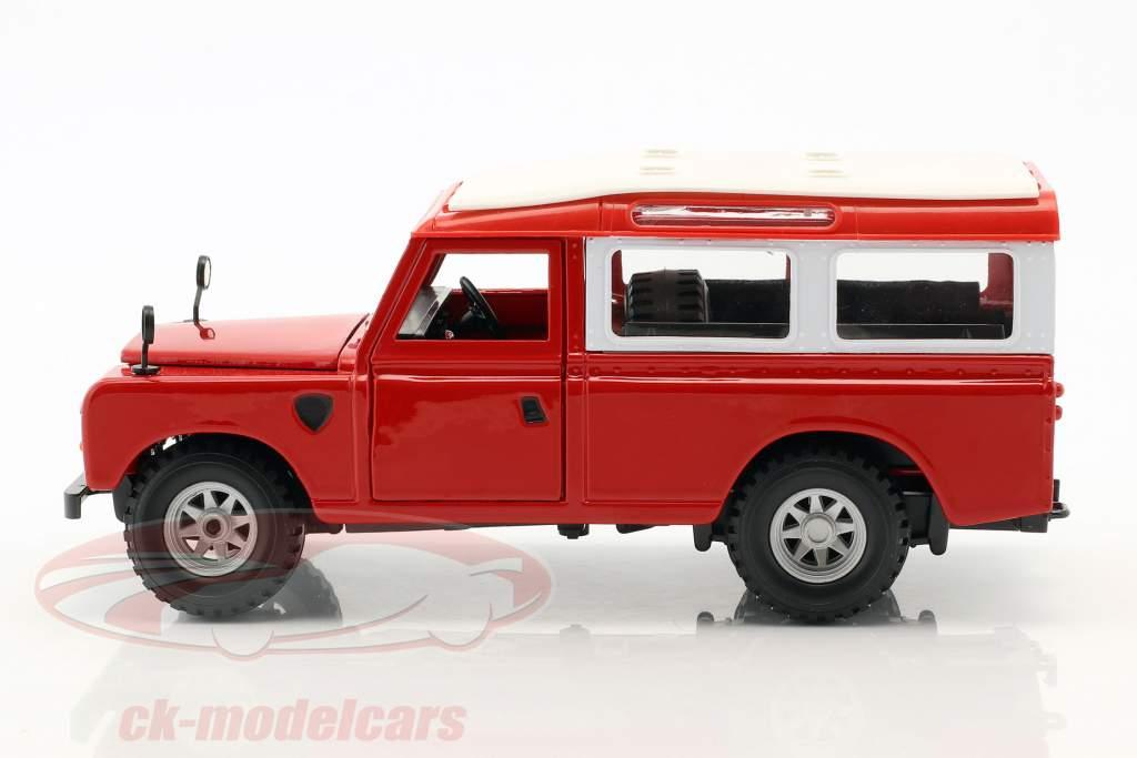 Land Rover Series II red / hvid 1:24 Bburago