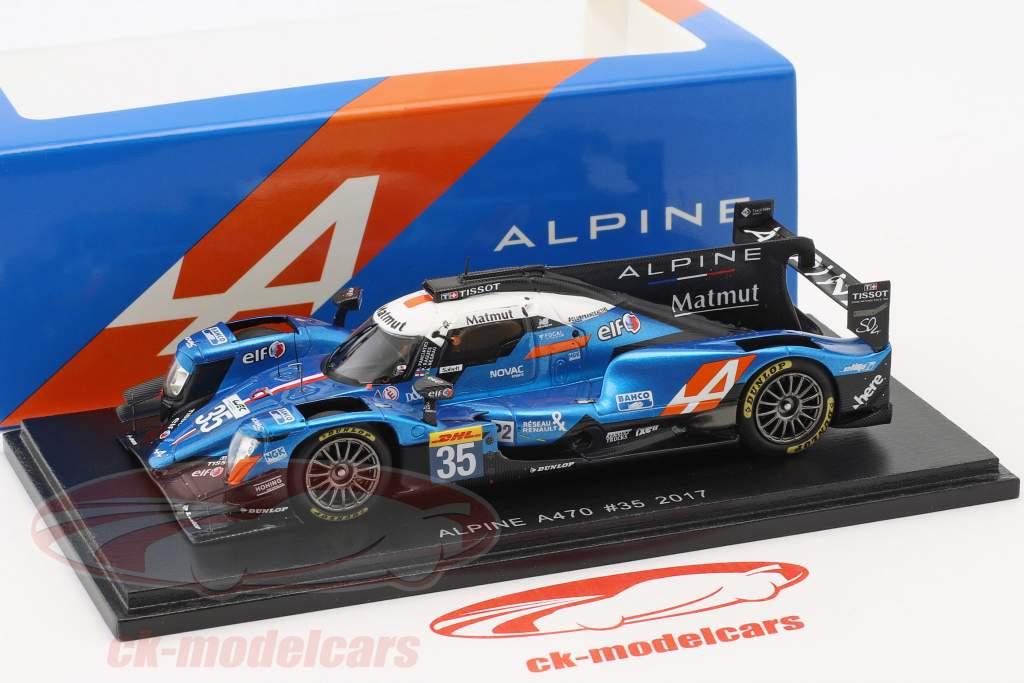 Alpine A470 #35 4e 24h LeMans 2017 Panciatici, Ragues, Negrao 1:43 Spark