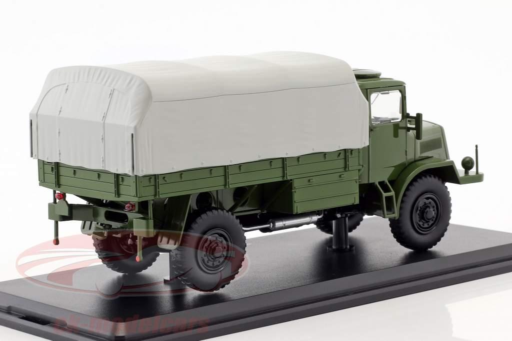 Tatra 128N lastbil med presenning Opførselsår 1951 oliven / grå 1:43 Premium ClassiXXs