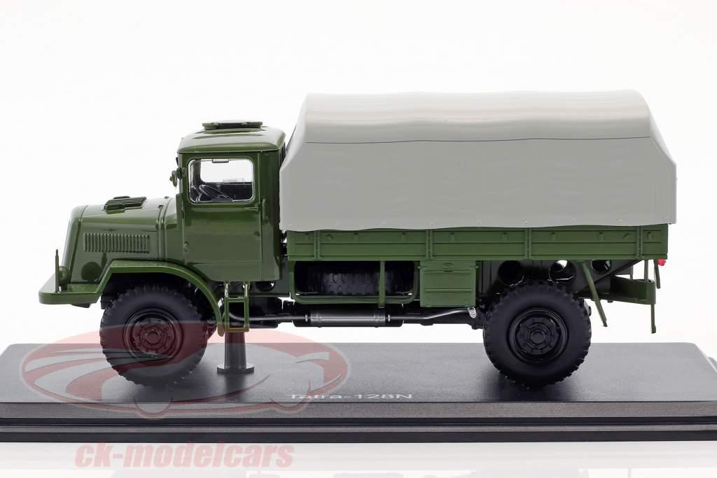 Tatra 128N camion avec bâche année de construction 1951 olive / gris 1:43 Premium ClassiXXs