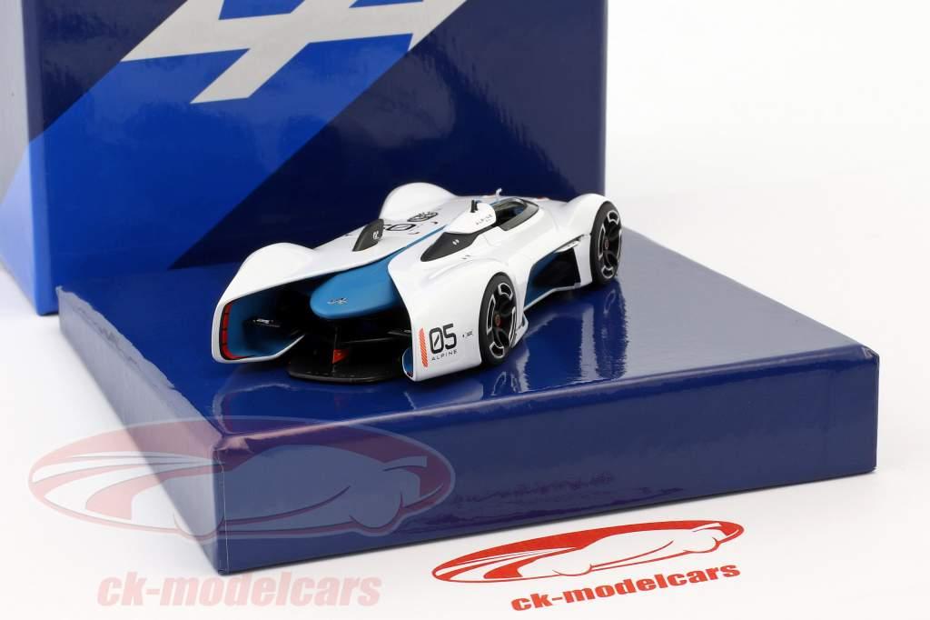 Alpine Vision Gran Turismo hvid / blå 1:43 Norev