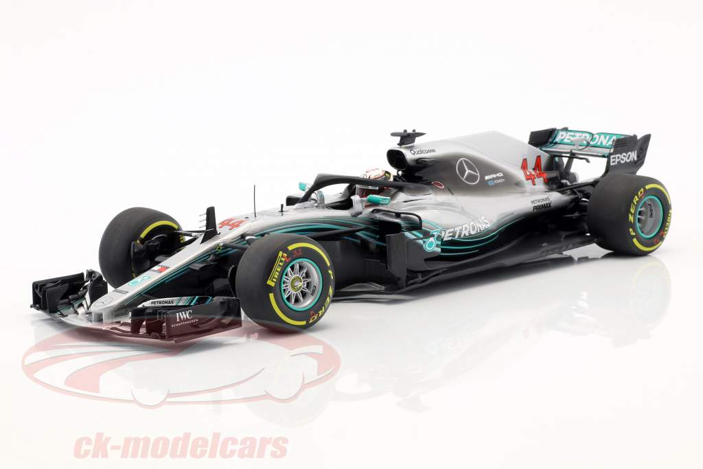 Lewis Hamilton Mercedes-AMG W09 EQ campeão do mundo fórmula 1 2018 1:18 Minichamps