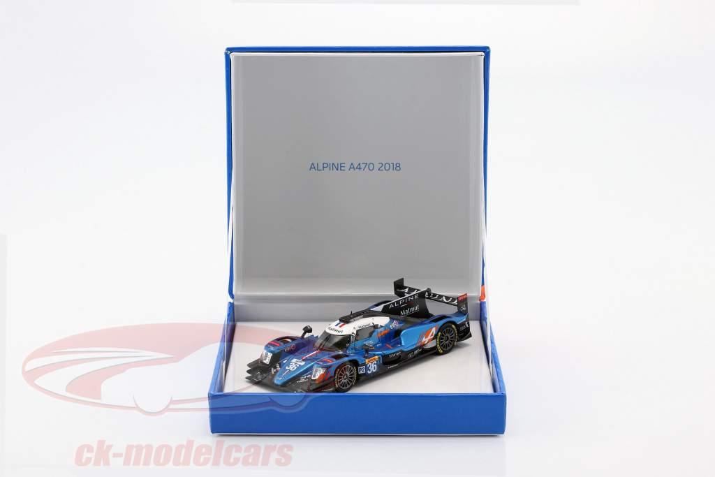 Alpine A470 #36 vencedor classe LMP2 24h LeMans 2018 1:43 Spark