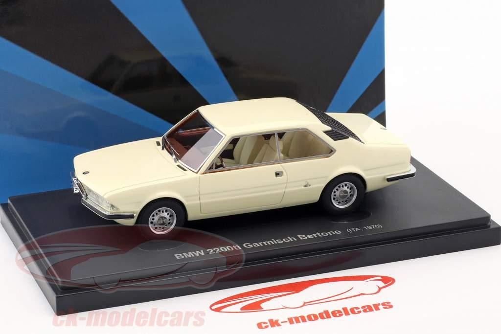 BMW 2200ti Garmisch Bertone ano de construção 1970 branco 1:43 AutoCult