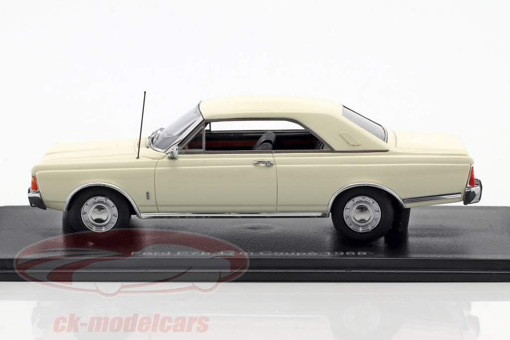 Ford Taunus P7b 17M coupe ano de construção 1968 branco 1:43 Neo