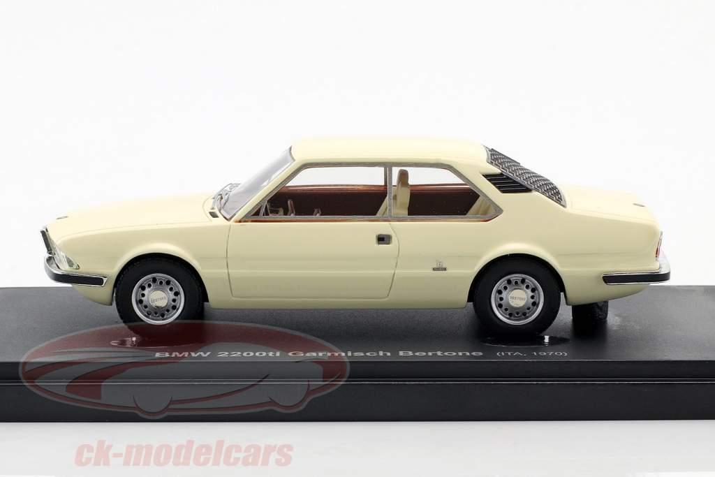 BMW 2200ti Garmisch Bertone year 1970 White 1:43 AutoCult