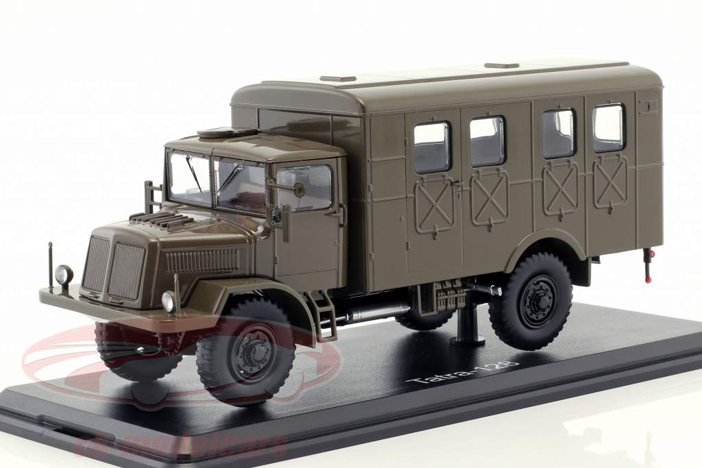 Tatra 128 busje Bouwjaar 1951 mat olijf 1:43 Premium ClassiXXs