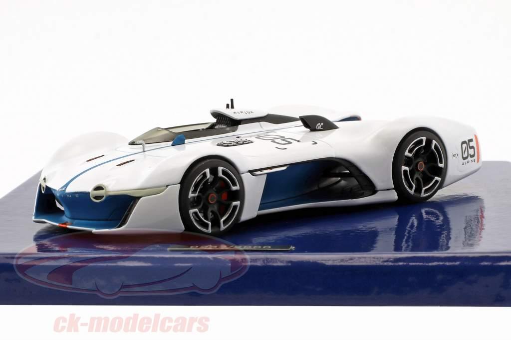 Alpine Vision Gran Turismo 白 / ブルー 1:43 Norev