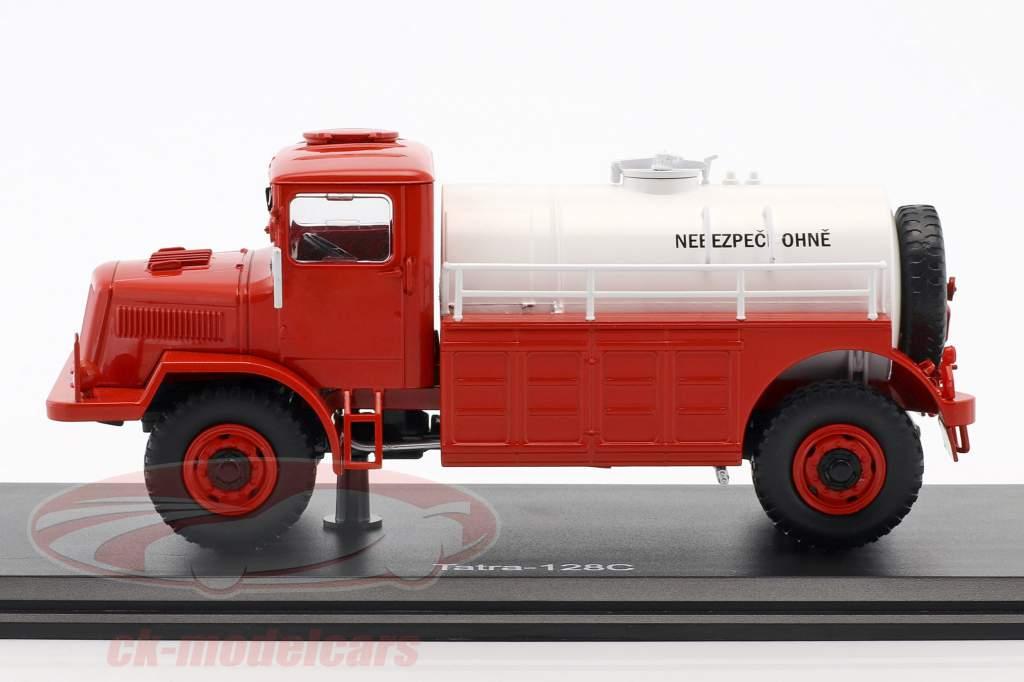 Tatra 128C tankschip Bouwjaar 1951 rood / wit 1:43 Premium ClassiXXs
