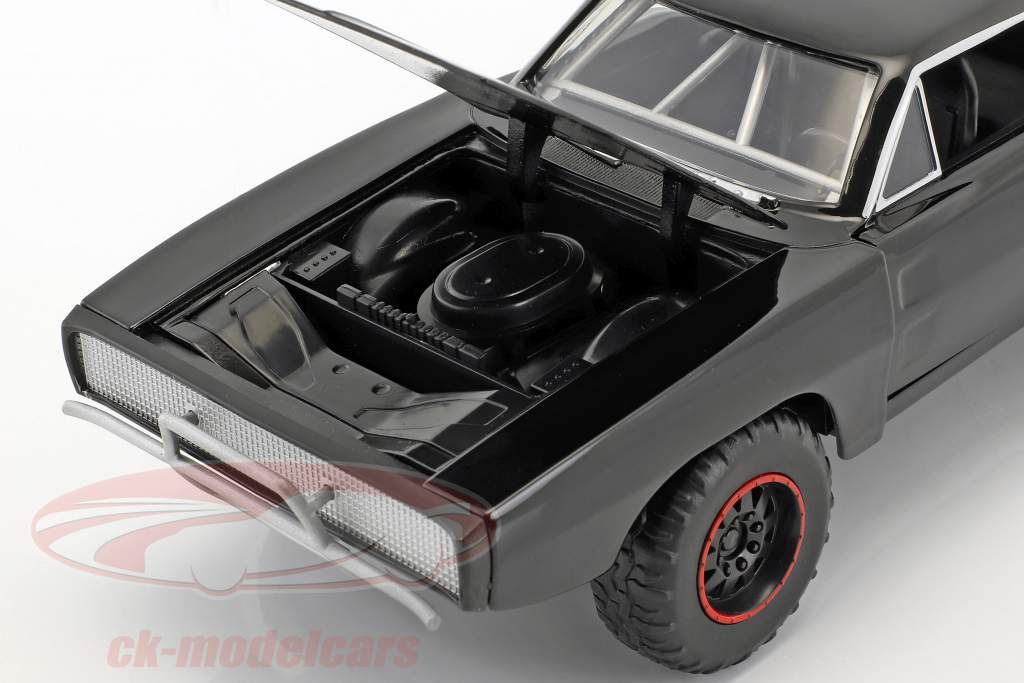 Dodge Charger R/T Offroad År 1970 Fast and Furious 7 sort 1:24 Jada Toys