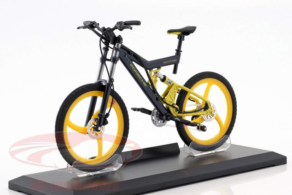 Bicicleta Porsche Bike FS Evolution gris / amarillo 1:10 Welly