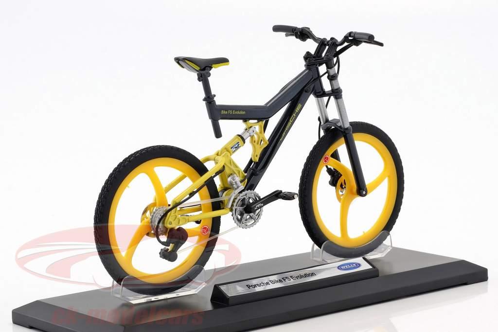 Bicicletta Porsche Bike FS Evolution grigio / giallo 1:10 Welly