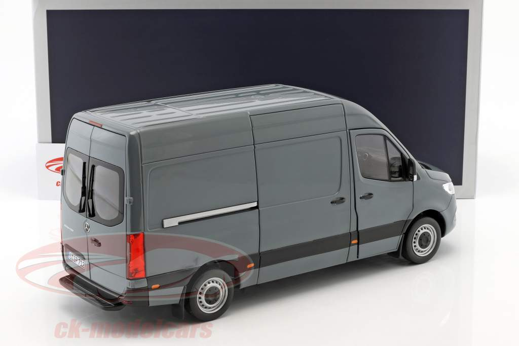 Mercedes-Benz Sprinter van ano de construção 2018 cinza azul 1:18 Norev