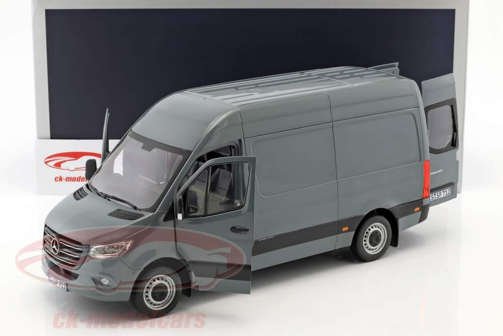 Mercedes-Benz Sprinter busje Bouwjaar 2018 blauw grijs 1:18 Norev