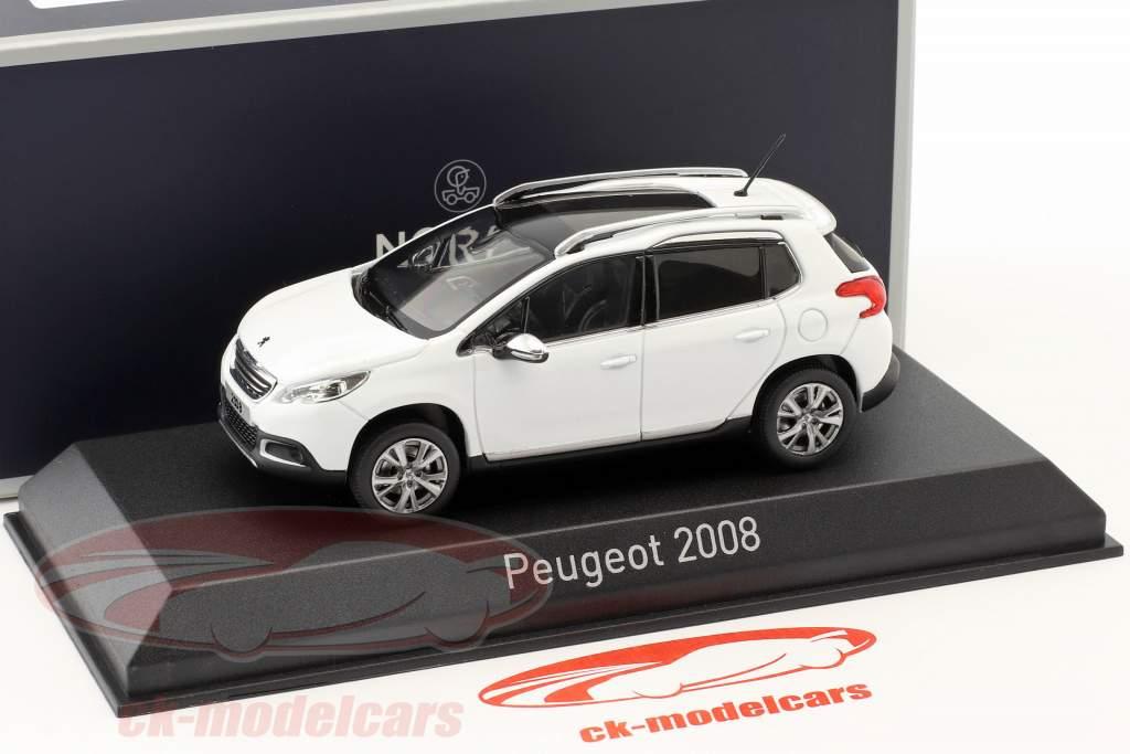 Peugeot 2008 Bouwjaar 2013 wit 1:43 Norev