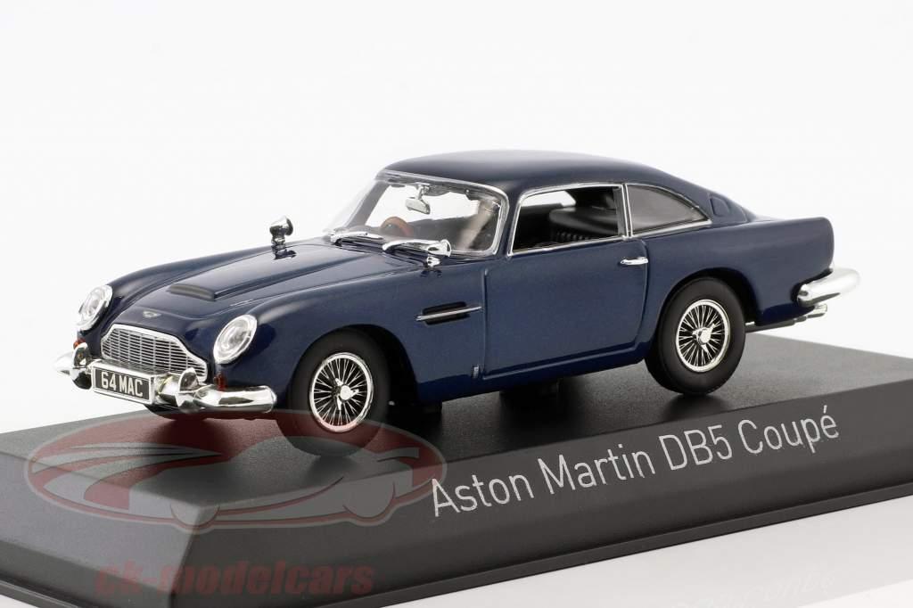 Aston Martin DB5 coupe Bouwjaar 1964 nacht blauw 1:43 Norev