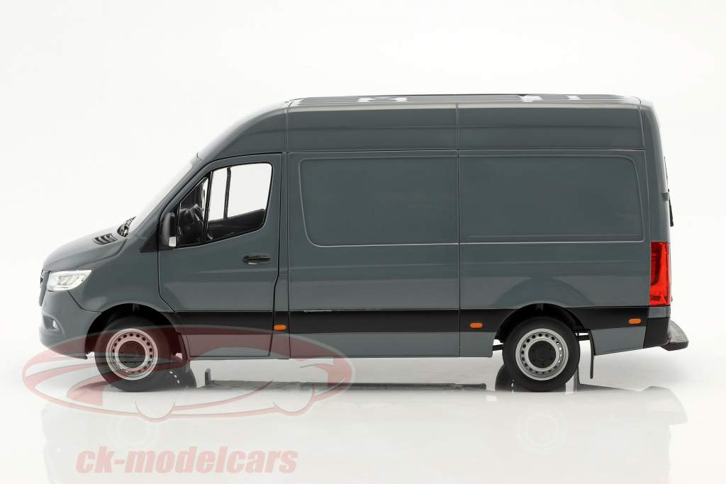 Mercedes-Benz Sprinter van year 2018 blue gray 1:18 Norev