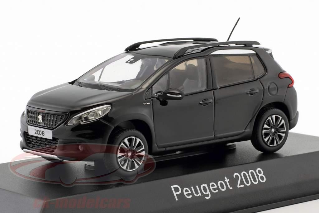 Peugeot 2008 GT Line Bouwjaar 2016 perla nera zwart 1:43 Norev