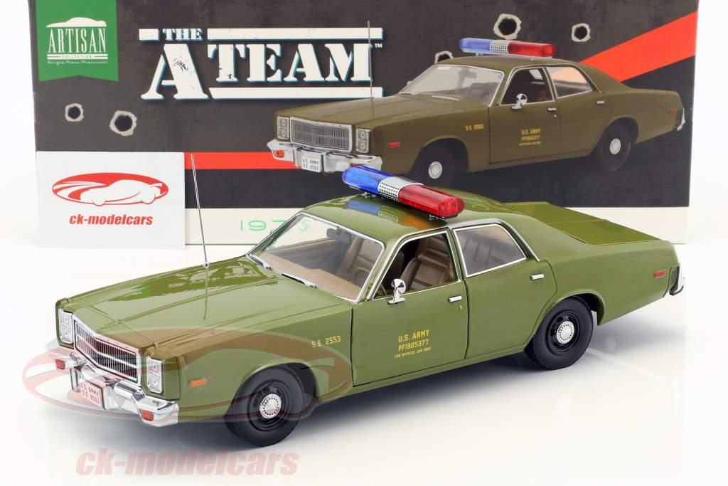 Plymouth Fury año de construcción 1977 series de televisión la A-Team (1983-1987) oliva 1:18 Greenlight