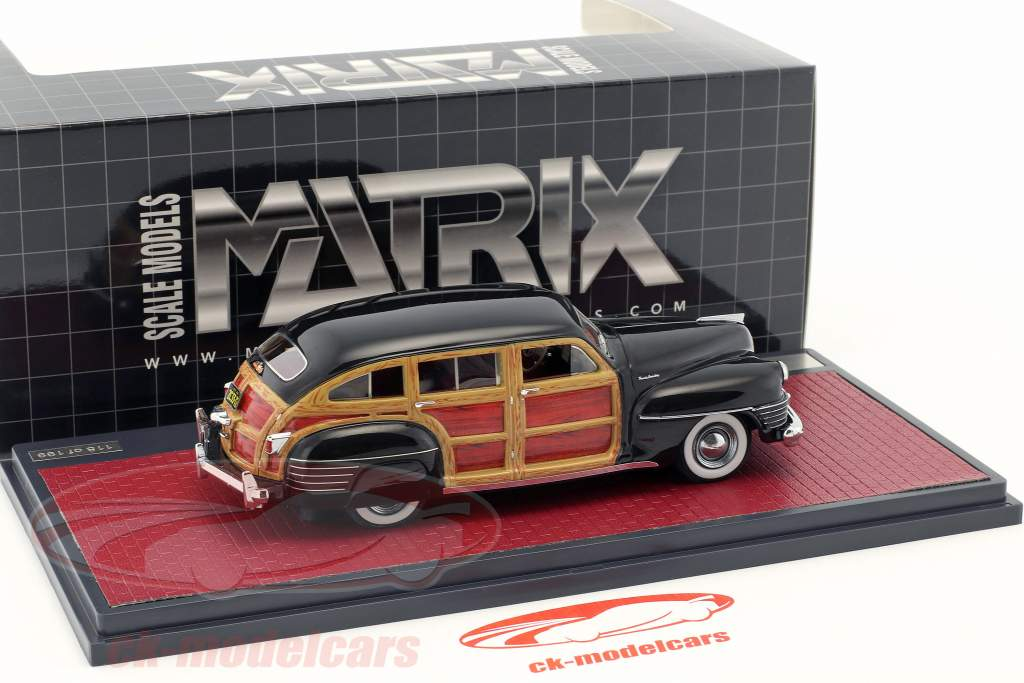 Chrysler Town & Country Wagon Opførselsår 1942 sort 1:43 Matrix