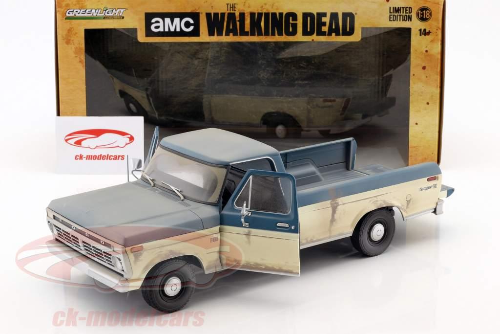 Ford F-100 Pick-Up Bouwjaar 1973 tv-serie The Walking Dead (sinds 2010) 1:18 Greenlight