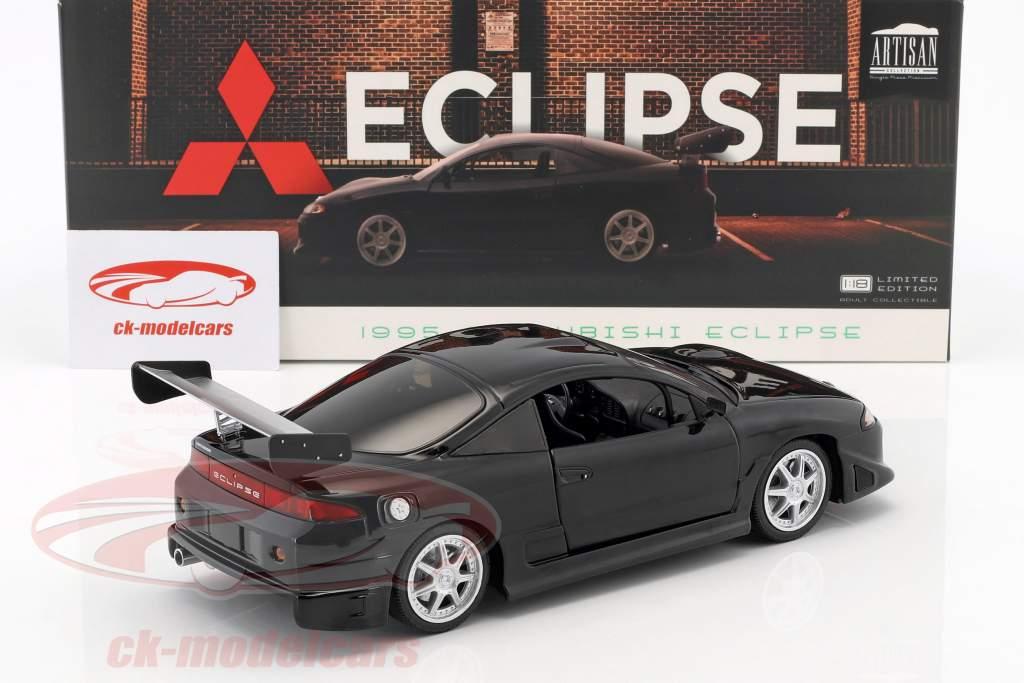 Mitsubishi Eclipse anno di costruzione 1995 nero 1:18 Greenlight