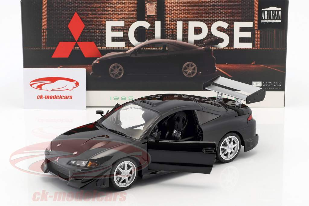 Mitsubishi Eclipse Bouwjaar 1995 zwart 1:18 Greenlight