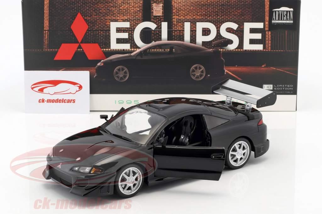 Mitsubishi Eclipse Opførselsår 1995 sort 1:18 Greenlight