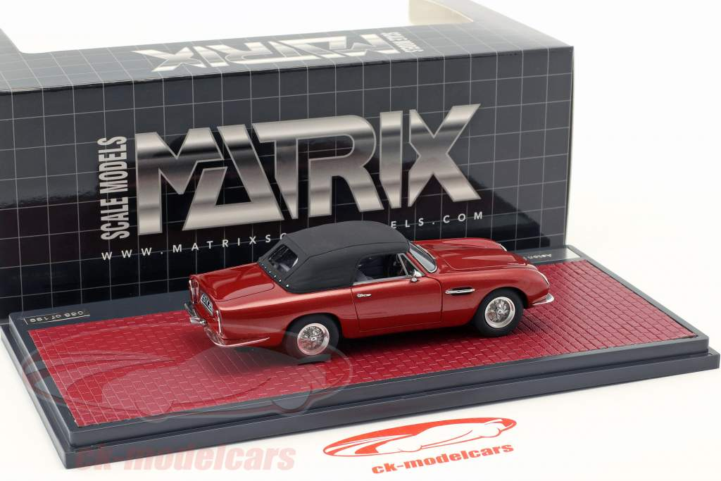 Aston Martin DB6 Volante Closed Bouwjaar 1968 rood metalen 1:43 Matrix