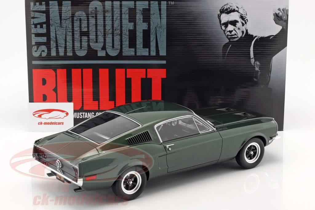Ford Mustang GT Steve McQueen película Bullitt (1968) verde oscuro 1:12 GT-Spirit