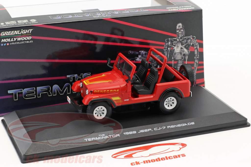 Sarah Conner's Jeep CJ-7 année de construction 1983 film Terminator (1984) rouge 1:43 Greenlight