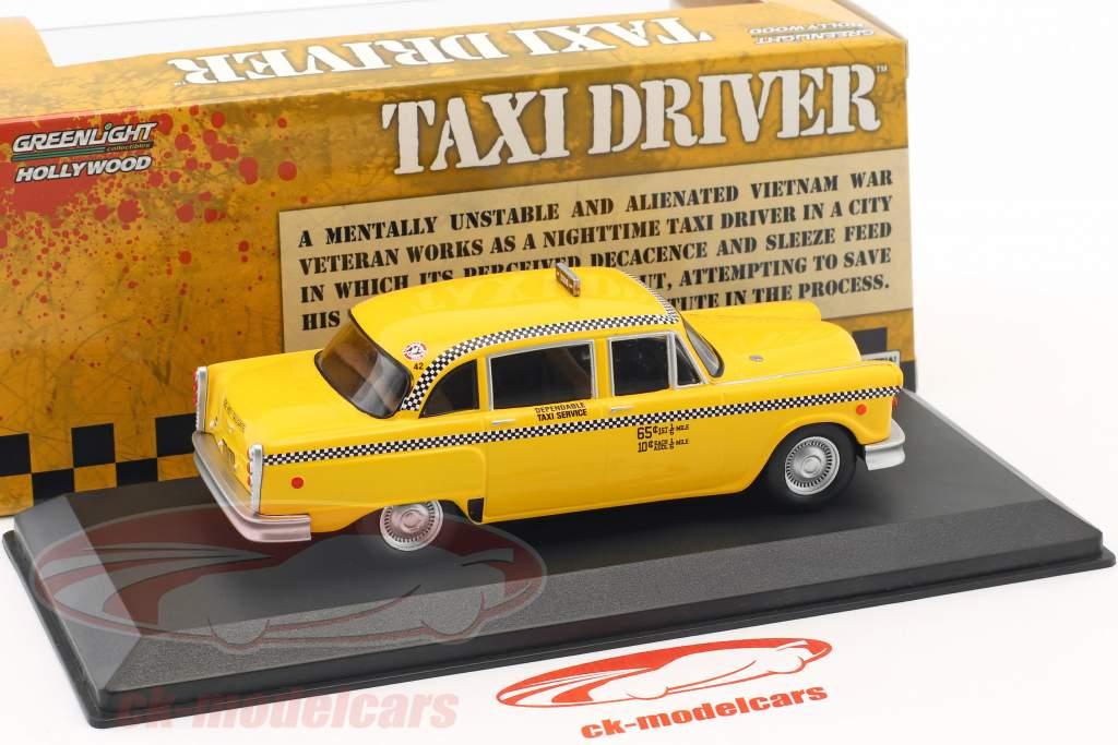 Checker Taxi ano de construção 1975 filme Taxi Driver (1976) amarelo 1:43 Greenlight