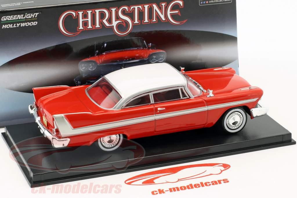Plymouth Fury Baujahr 1958 Film Christine (1983) rot / weiß / silber 1:43 Greenlight