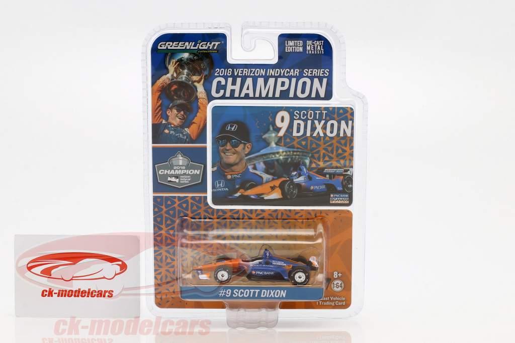 Scott Dixon Honda #9 campeão Indycar Series 2018 1:64 Greenlight