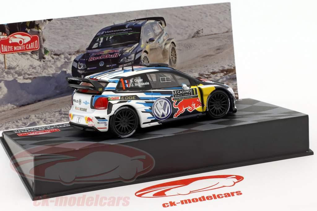 Volkswagen VW Polo R WRC #1 Vinder Rallye Monte Carlo 2016 Ogier, Ingrassia 1:43 Altaya