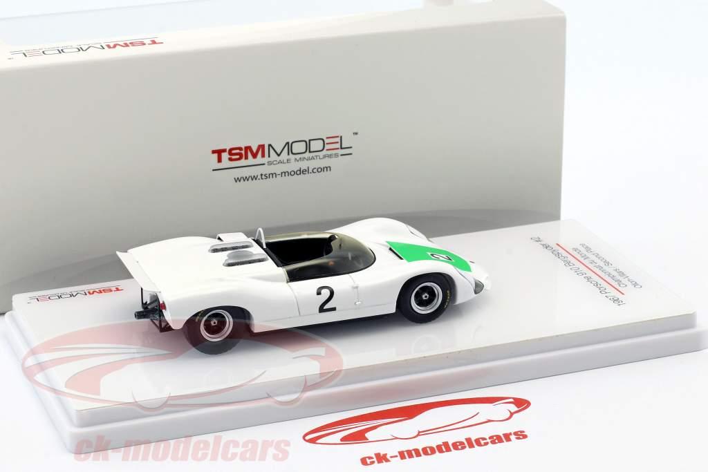 Porsche 910 Bergspyder #2 segundo Championnat du Monde Ollon-Villars 1967 1:43 TrueScale