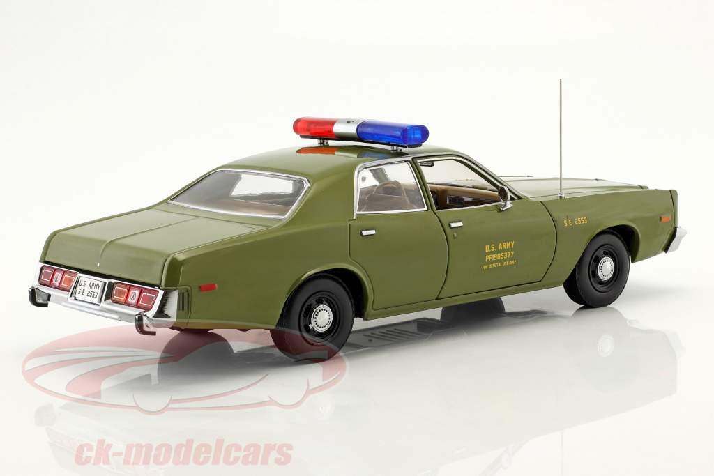 Plymouth Fury Bouwjaar 1977 tv-serie de A-Team (1983-1987) olijf 1:18 Greenlight