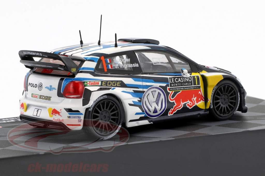 Volkswagen VW Polo R WRC #1 gagnant Rallye Monte Carlo 2016 Ogier, Ingrassia 1:43 Altaya