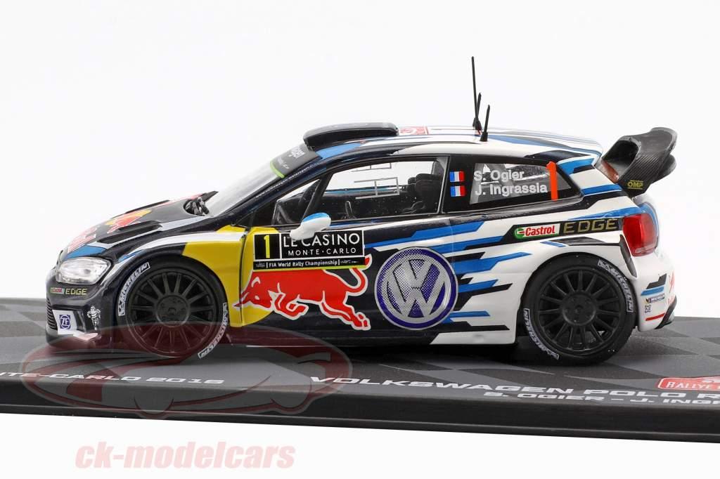 Volkswagen VW Polo R WRC #1 vincitore Rallye Monte Carlo 2016 Ogier, Ingrassia 1:43 Altaya