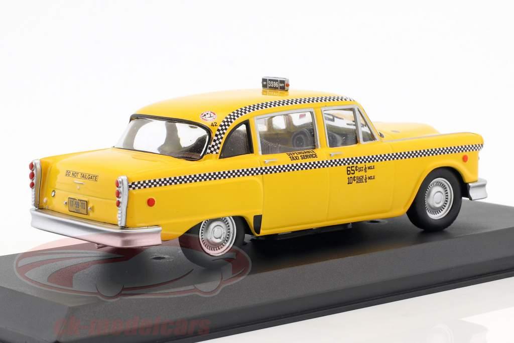 Checker Taxi anno di costruzione 1975 film Taxi Driver (1976) giallo 1:43 Greenlight