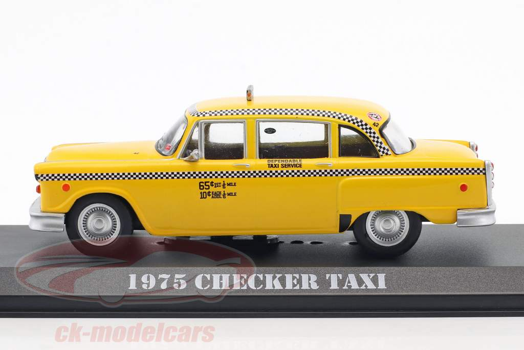 Checker Taxi year 1975 Movie Taxi Driver (1976) yellow 1:43 Greenlight