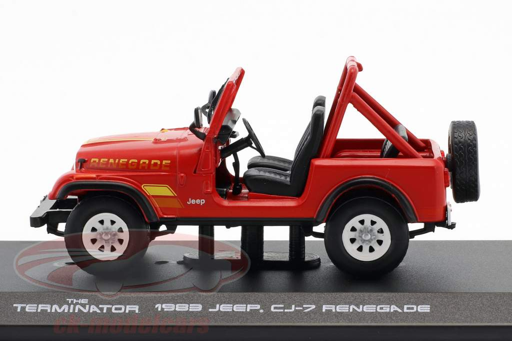 Sarah Conner's Jeep CJ-7 Baujahr 1983 Film Terminator (1984) rot 1:43 Greenlight