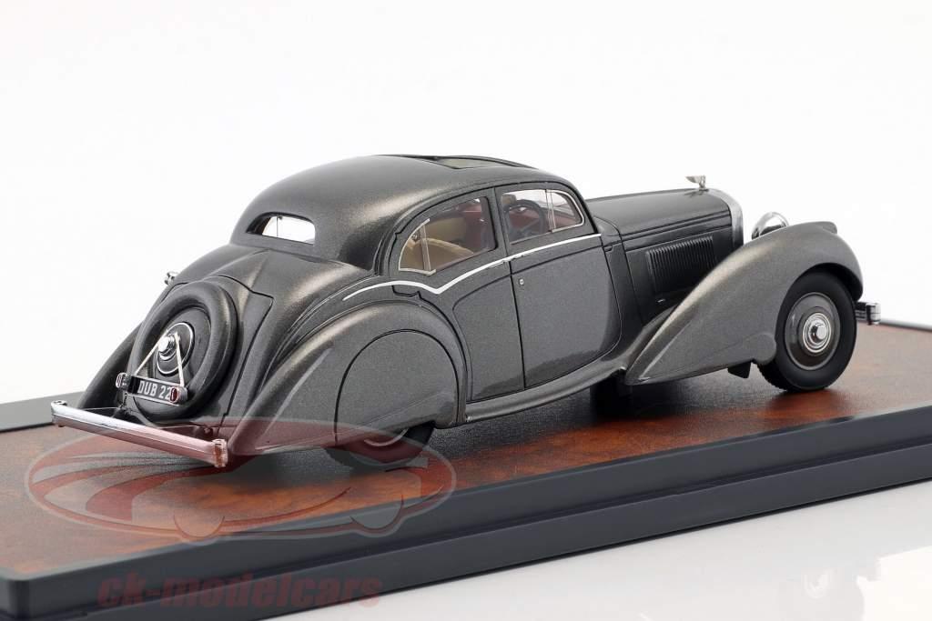 Bentley 4.25 Litre Carlton Pillarless Saloon año de construcción 1937 gris metálico 1:43 Matrix