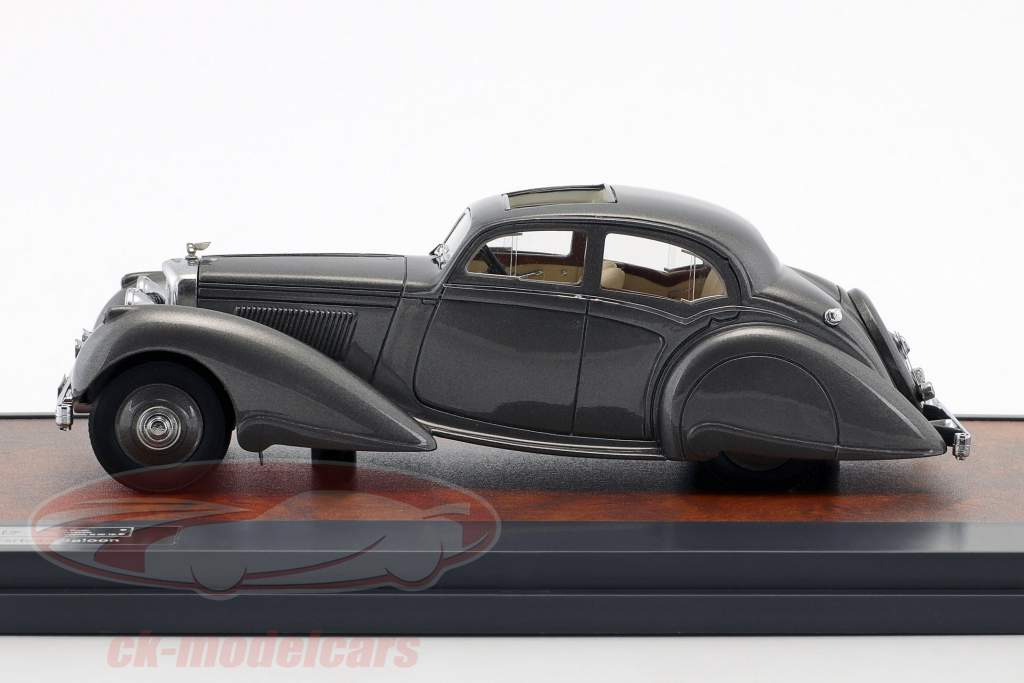 Bentley 4.25 Litre Carlton Pillarless Saloon Bouwjaar 1937 grijs metalen 1:43 Matrix
