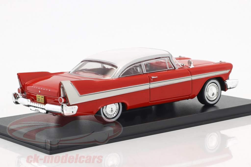 Plymouth Fury ano de construção 1958 filme Christine (1983) vermelho / branco / prata 1:43 Greenlight