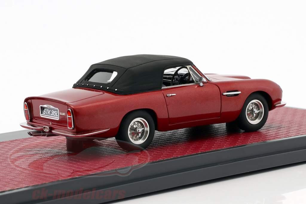 Aston Martin DB6 Volante Closed año de construcción 1968 rojo metálico 1:43 Matrix