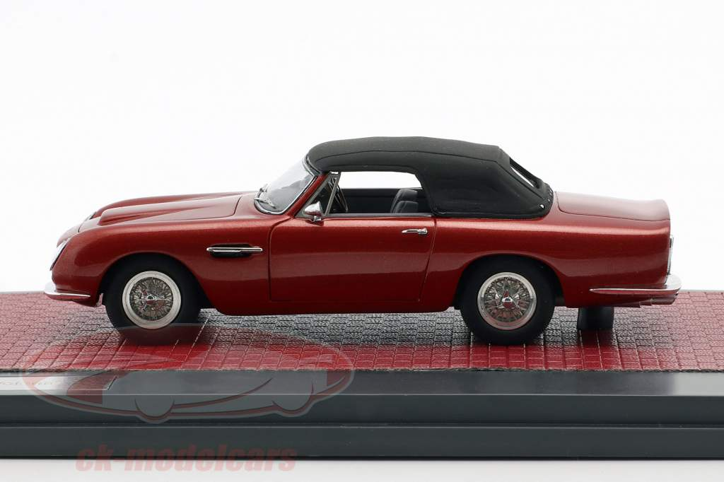 Aston Martin DB6 Volante Closed Opførselsår 1968 rød metallisk 1:43 Matrix