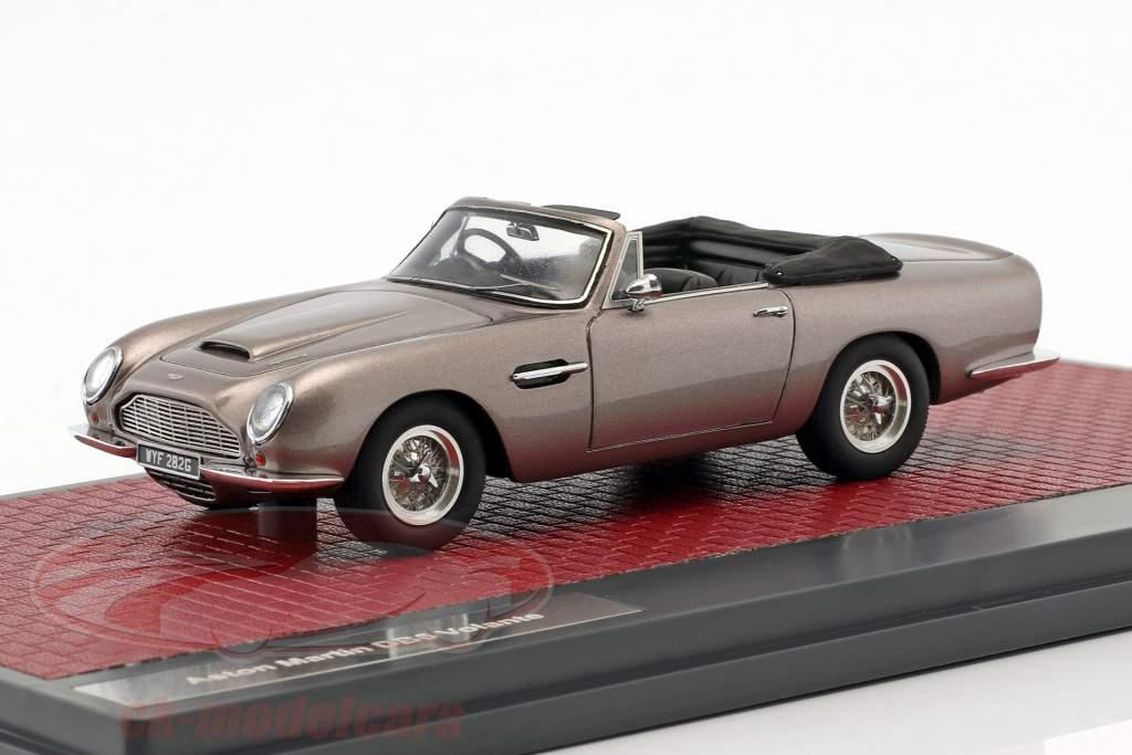 Aston Martin DB6 Volante Open Opførselsår 1968 grå metallisk 1:43 matrix
